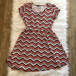 Pinc | chevron pattern dress